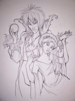 Labyrinth Jareth and Sarah by zirofax