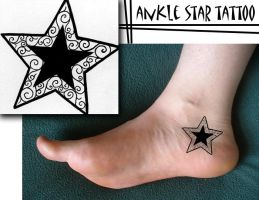 Ankle Star Tattoo 1 by DoodlePixie