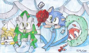 Sonic Babies Christmas-Happy Holidays by Carurisa