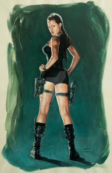 Angelina Jolie as Tomb Raider by MiltonNakata