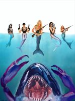Killer Crab Whale vs. Mermaid Assassins! by vadimcream
