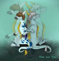 Kaze and Syan by evil-bloody-angel