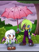 Kawaii umbrella by Extra-Fenix