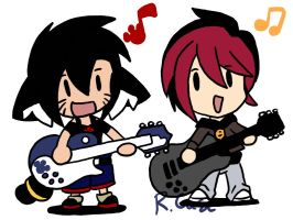 Lara and Julie JAM by rongs1234