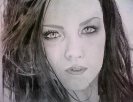 Amy Lee portrait by Koti-blue
