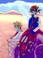 Riding Monster Thing by angieness