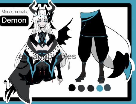 monochromatic demon adoptable CLOSED by AS-Adoptables