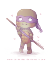 Chibi Donnie by Casadriss