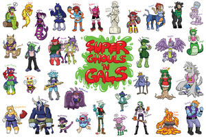 Super Ghouls 'N Gals by greliz