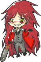 Grell sutcliff chibi by cjbrownie