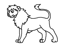 Free Lion Lineart by TheRealTilsa
