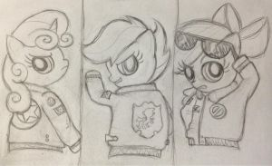 Cutie Mark Crusaders bomber jackets go! by dream-star-slash
