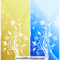 Abstract Floral Background Vector by 123freevectors