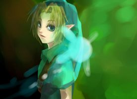 LoZ - Child Link by Miyukiko