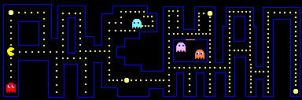 Pacman in the word Pacman by Rose279