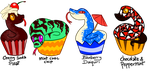 Cupsnakes Batch 1 - 3/4 OPEN by LavaCookies