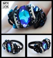 Blue-Violet Nebula Ring by XenOhm