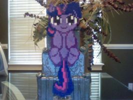 Large Perler Bead Art: Filly Twilight Sparkle by Perler-Pony