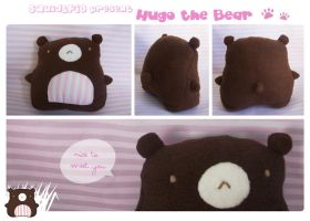 Hugo the Bear Plushie by SquidPig