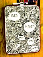 White Board Art -idle hands by Rhea-Batz