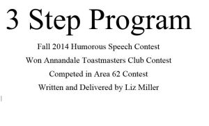 3 Step Program As Delivered 092214 Area Contest by lizjane