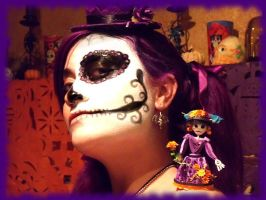 Catrina and creator by AutumnNightBat