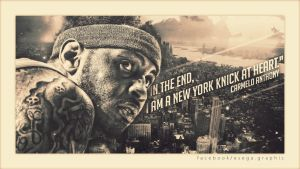 Carmelo Anthony New York Wallpaper by EsegaGraphic