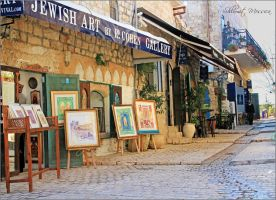 Galleries in the old town by ShlomitMessica
