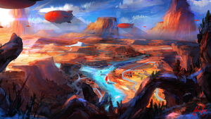 Dirigible Canyon by Adam-Varga