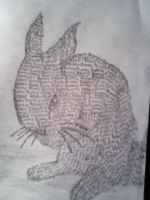 Bunny made up of words by FlyingColors68