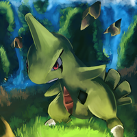 Larvitar used Stone Edge by salanchu
