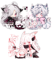 .:CLOSED:. Adoptable - Fluffbebe #11 #12 n #13 by chisei-adopts