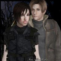 Ada and Leon by IamAlbertWesker