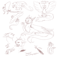 Dragowl Character Concept by OkamiWhitewings