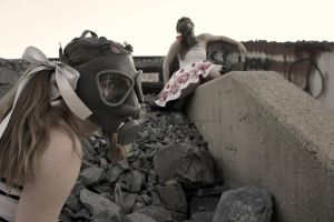 The Gas Mask Girls- Striking by DascocoCosplay