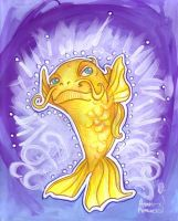 Enchanted carp by snail-lady