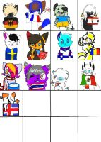 Nationality Flag Collab by hetalia-canada101