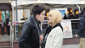 Yuri!!! on ICE cosplay: Otabek and Yurio by DAIxSORA