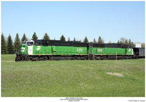 BNSF SD60Ms 9255 and 9256 by hunter1828