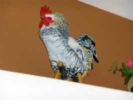 Rooster on the Shelf by BlackFlameVampire