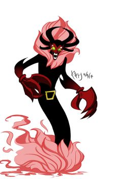 Fusion Request: HIM and Aku (Him-Ku?) by EnvySkort