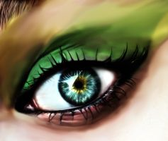 Lime Eye by The-Dragoness