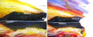 sunset at pandin lake wip1 by aramismarron