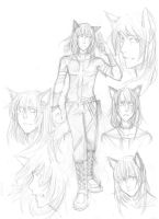 charasheet sketches-CanisMaior by Razuri-the-Sleepless