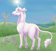 spring unicorn by gifdot