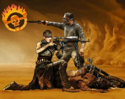 Mad Max- Furiosa and Max by Humannisart
