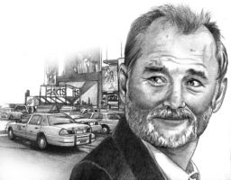 Bill Murray portrait by choffman36