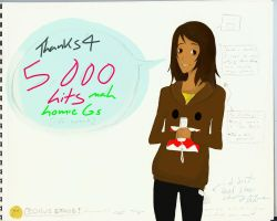 Thanks for 5000 Hits by theNICKELgirl