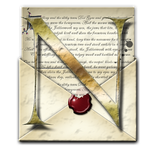 Steampunk N Open Envelope Icon by yereverluvinuncleber
