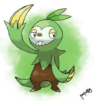 Grass Sloth Starter 2nd Stage by peteToaDDy
